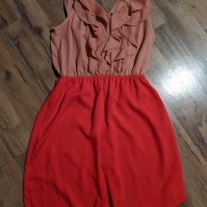 Mossimo Combo Ruffle Dress